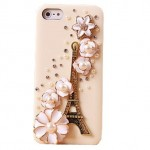 Amazon: White Bling Eiffel Tower With Flowers Crystal Rhinestone Hard Case Only $3.59 Shipped