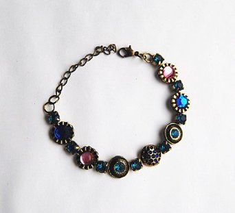 41GZHGONZBL. SX342  Amazon: Retro Faux Colored Gemstone Bracelet Only $4.95 Shipped (Reg. $9.99)