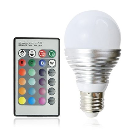 41HejmgU3rL. SX425  Amazon: 16 Multi Color Energy Saving LED Light Bulb With Remote Control Only $7.99 Shipped