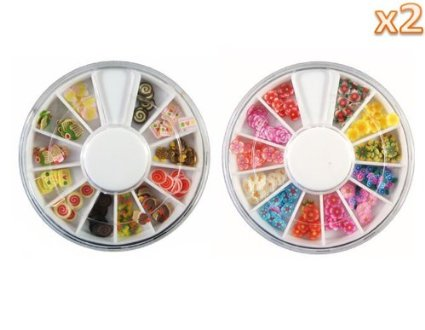 41ah9L0OtvL. SX425  Amazon: 144 Piece 3D Heart shaped Art Fimo Slices Decoration 2 Pack Only $1.99 Shipped