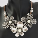 Amazon: Retro Vintage Silvery Chain Jewelry Floral Rope Necklace Only $10.77 Shipped