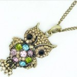 Amazon: Antique Vintage Adorable Rhinestone Owl Necklace Only $0.99 Shipped