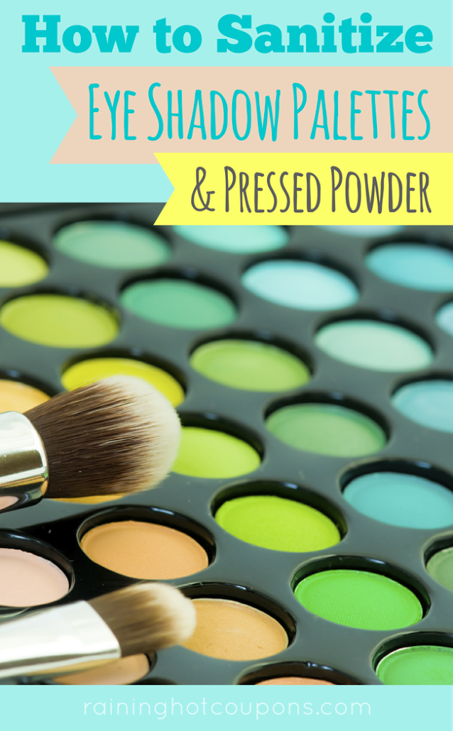 EYES How To Sanitize Eyeshadow Palettes AND Pressed Powder