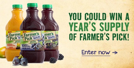 Enter to Win a FREE Years Supply of Welchs Farmers Pick Juice