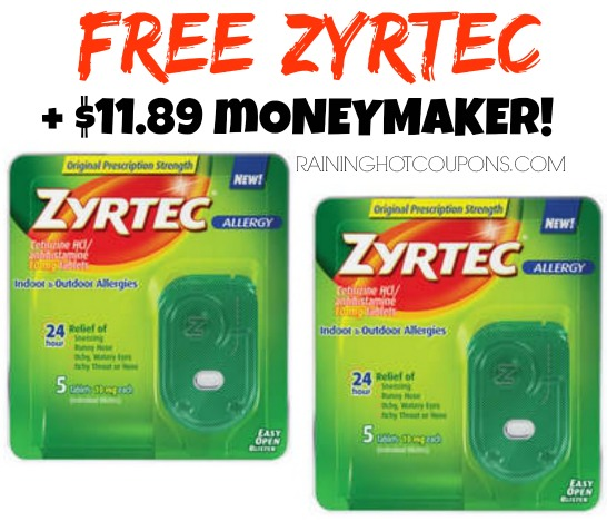 *HOT* 2 FREE Bottles of Benedryl AND FREE Kleenex AND FREE Zyrtec + $12.55 MONEYMAKER!