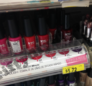 NYC New York Makeup coupons 300x281 NYC Cosmetics Nail Polish Only $0.72 at Walmart