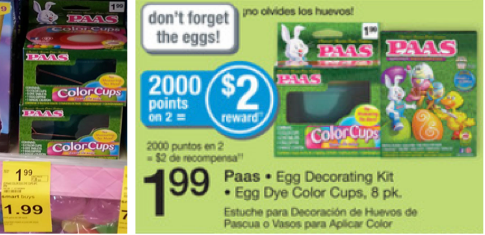PAAS Paas Egg Decorating Kit or Egg Dye Color Cups Only $0.99 at Walgreens!