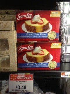 SARA Sara Lee Frozen Pound Cake Slices Only $2.48 at Walmart!
