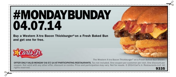 Carls Jr: Buy 1 Get 1 FREE Western X tra Bacon Thickburger Coupon (TODAY Only!)