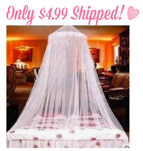 Amazon has this great White Elegant Lace Bed Canopy (LOOK TO THE RIGHT SIDE under More Buying Choices) for only $4.99 shipped! This would look great in any ... & Amazon: White Elegant Lace Bed Canopy Only $4.99 Shipped