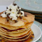 Homemade Chocolate Chip Peanut Butter Pancakes