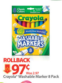 crayola *HOT* FREE Crayola Washable Marker 8 Pack at Walmart!