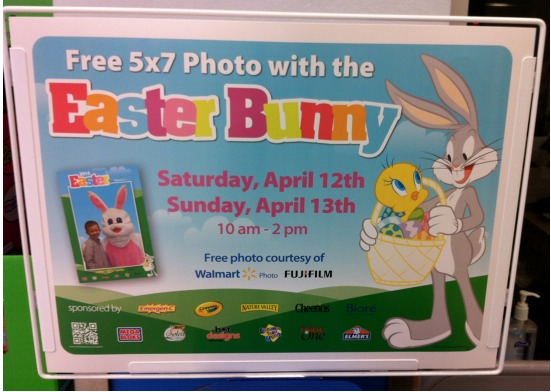 FREE 5x7Photo with the Easter Bunny at Walmart!