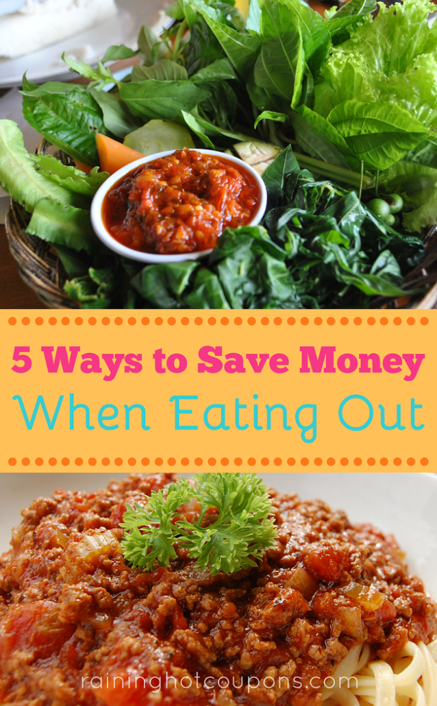 eat 5 Ways To Save Money When Eating Out