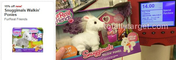 furreal friends Target: Furreal Friends Snuggimals Walkin Ponies Only $5.93