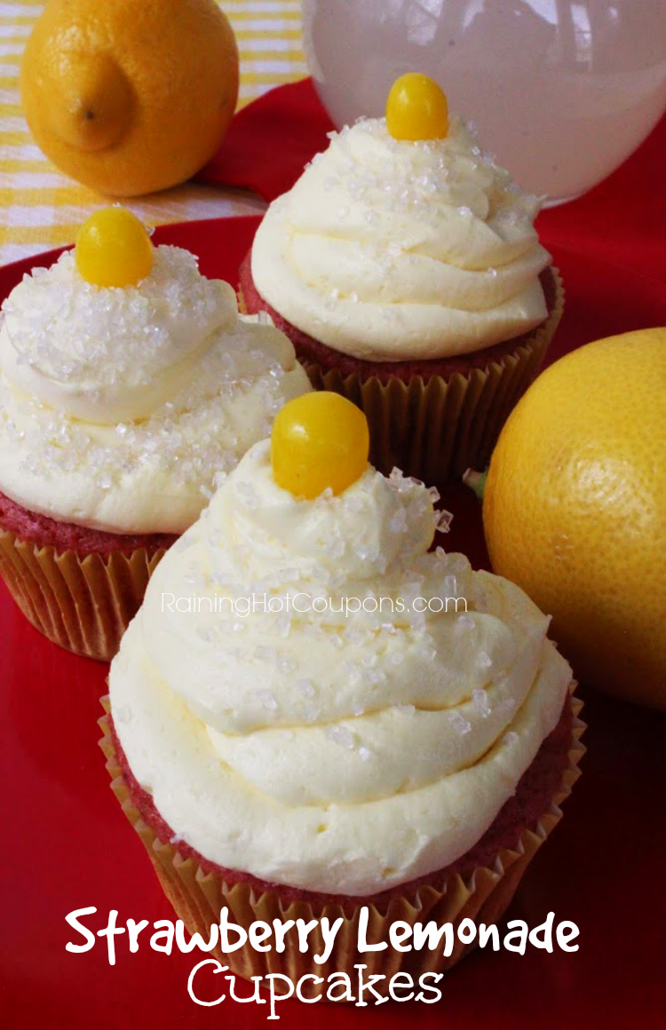 lemonade cupcakes.png Strawberry Lemonade Cupcakes