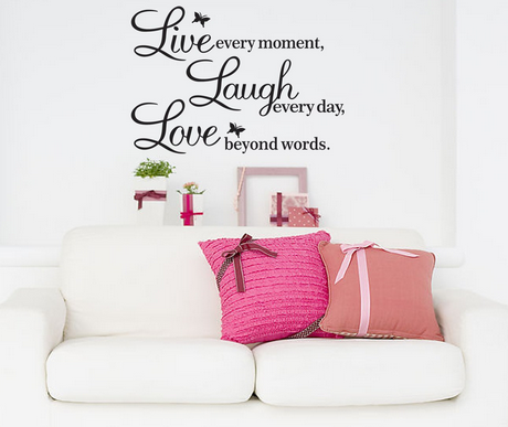 live *HOT* Vinyl Decal Live every moment, Laugh every day, Love beyond words Wall Quote $2.00 + FREE shipping!