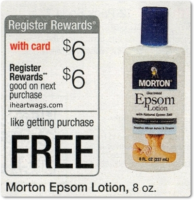 morton lotion FREE Morton Epsom Lotion at Walgreens, Beginning 4/13