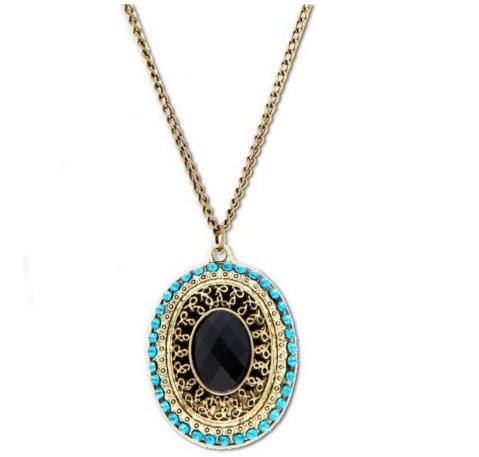 *HOT* Bronze Crystal Necklace Only $1.49 + FREE Shipping