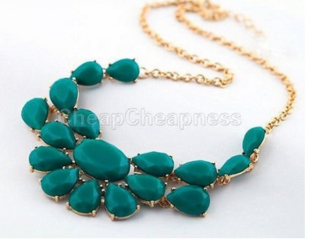 Water Drop Stone Pendant Necklace Only $1.59 + FREE Shipping!
