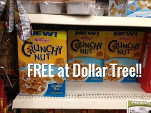 nut *HOT* 3 FREE Boxes of Kelloggs Crunchy Nut Cereal!