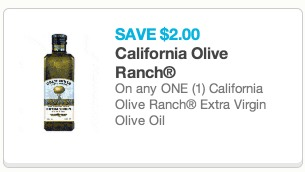 *HOT* $2/1 California Extra Virgin Olive Oil = Only $4.96 for a Large Bottle!