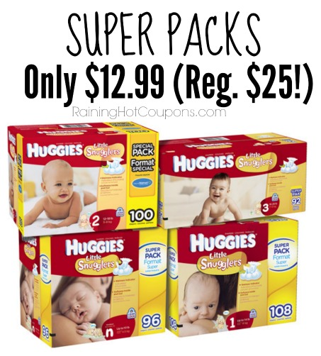 Target: Huggies Little Snuggglers Super Packs Only $12.99