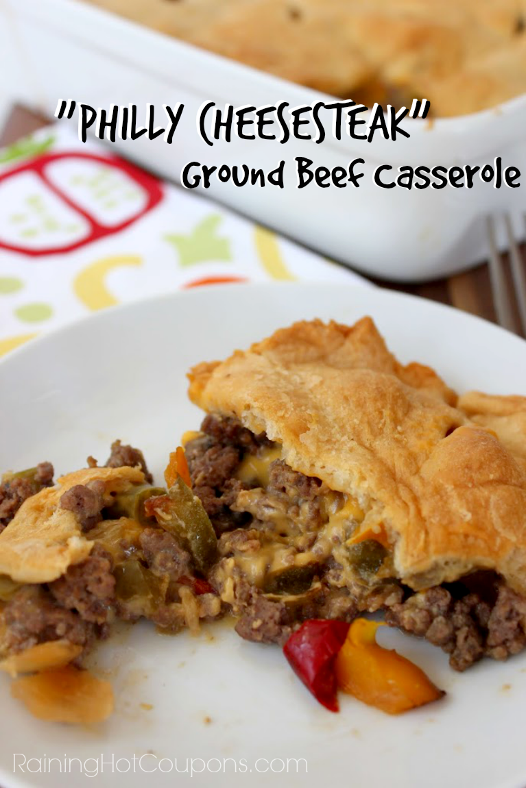 philly casserole.png Philly Cheesesteak Ground Beef Casserole