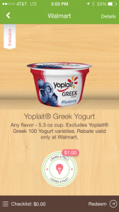 photo 168x300 FREE Yoplait Greek Yogurt at Walmart!