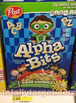 post cereal Target: Post Alpha Bits Only $0.69