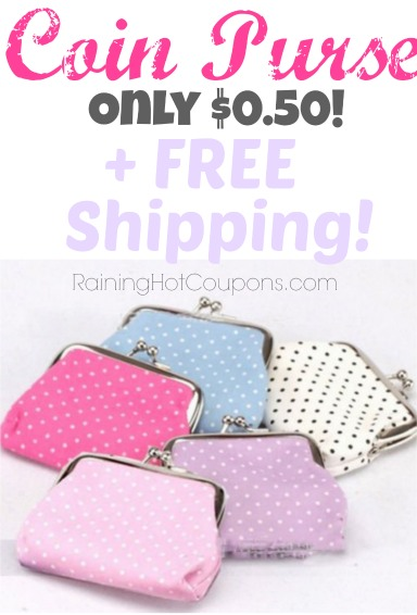 *HOT* Clutch Change Purse Mini Handbag Pouch Only $0.50 + FREE shipping!