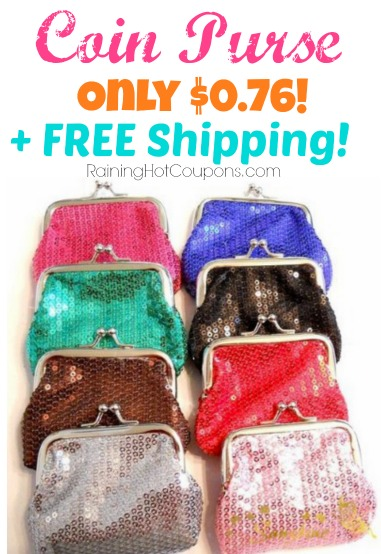 Popular Wallet Clutch Change Purse Only $0.76 + FREE Shipping!