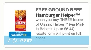 *HOT* 3 Boxes of Hamburger Helper and $5 WORTH of Ground Beef ONLY $2.00!!!