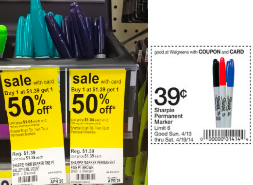 screen shot 2014 04 13 at 12 22 03 pm Walgreens: Sharpie Markers Only $0.20 (No Coupon Needed)