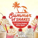 Sonic Happy Hour: Half off Shakes After 8pm ALL Summer
