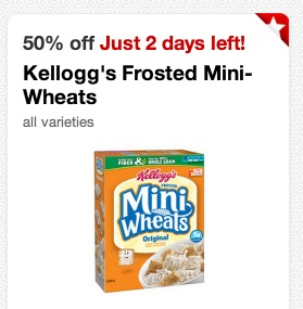*HOT* 3 FREE Boxes of Frosted Mini Wheats with a Touch of Fruit Cereal at Target + Moneymaker!