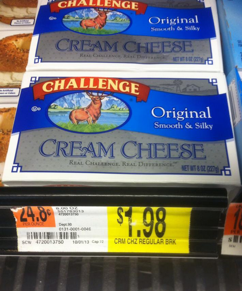 walmart cream cheese Walmart: Challenge Cream Cheese Only $0.23