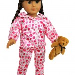 """Amazon: American Girl Doll 4 Piece """"Hearts and Kisses"""" Pajamas Outfit Only $13.95 (Reg. $24.95)"""