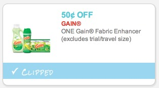 Box of Gain Dryer Sheets Only $0.50!