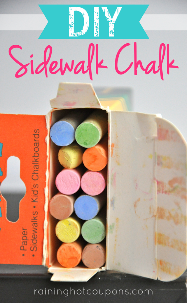 chalk DIY Sidewalk Chalk