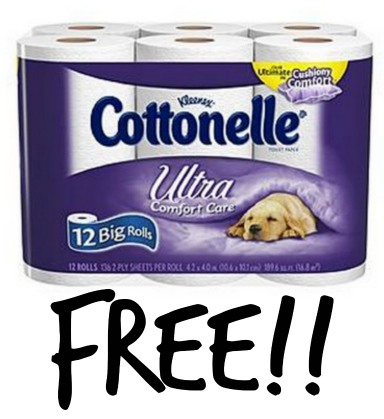Free 12 Roll Pack Of Cottonelle Ultra Comfort Care Toilet