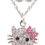 *HOT* Crystal Cat Necklace and Earrings Set $3.35 + FREE shipping (Reg. $15.99)!