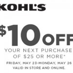 Kohl's: $10 Off $25 Coupon + 15% Off Entire Purchase!