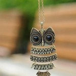 Vintage Owl Pendant Chain Necklace Only $1.59 + FREE shipping!