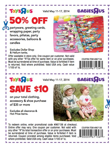 Toys R Us Promo Codes & Coupon Codes. Online In-Store 92 used today 50% Off Top Toy Brands. All the current ToysRUs and BabiesRUs coupons and promo codes are unavailable right now. Please click through to be directed to other deals on Toys & Games.5/5(12).