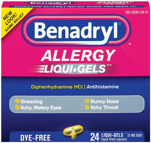 Benadryl Allergy Liqui Gels
