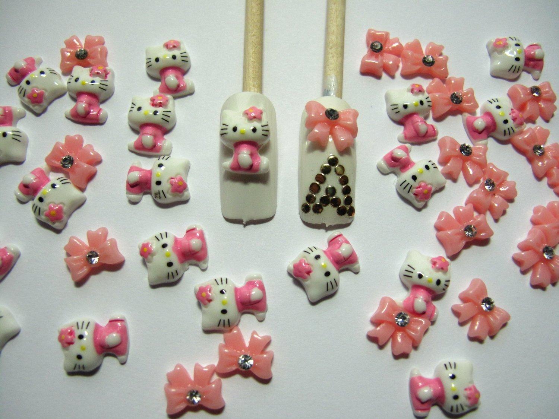 Amazon 40 Piece Hello Kitty 3d Nail Art Kit Only 335 Shipped