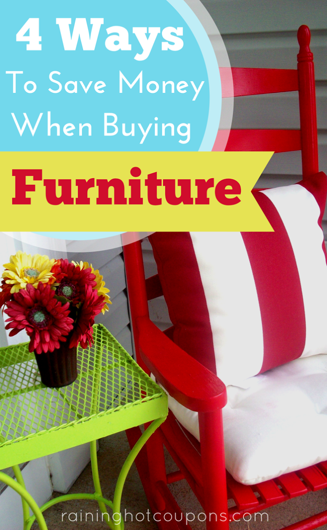 FURNITURE 4 Ways To Save Money When Buying Furniture