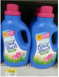Final Touch Fabric Softener printable coupon 233x300 Final Touch Fabric Softener Only $0.48 at Walmart