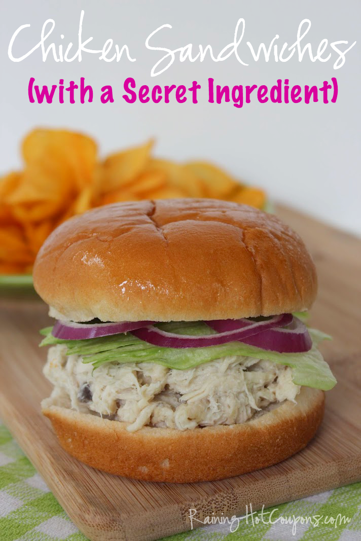 chicken sandwich.png Shredded Chicken Sandwiches (with a Secret Ingredient)